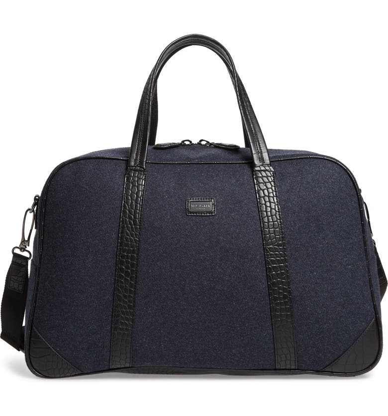 TED BAKER LONDON Masher Wool Blend Duffle Bag, Main, color, NAVY