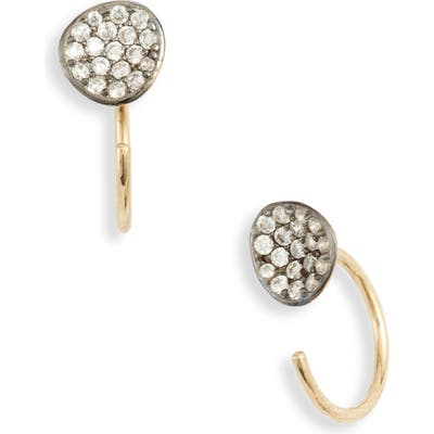Nadri Sirena Drop-Back Stud Earrings