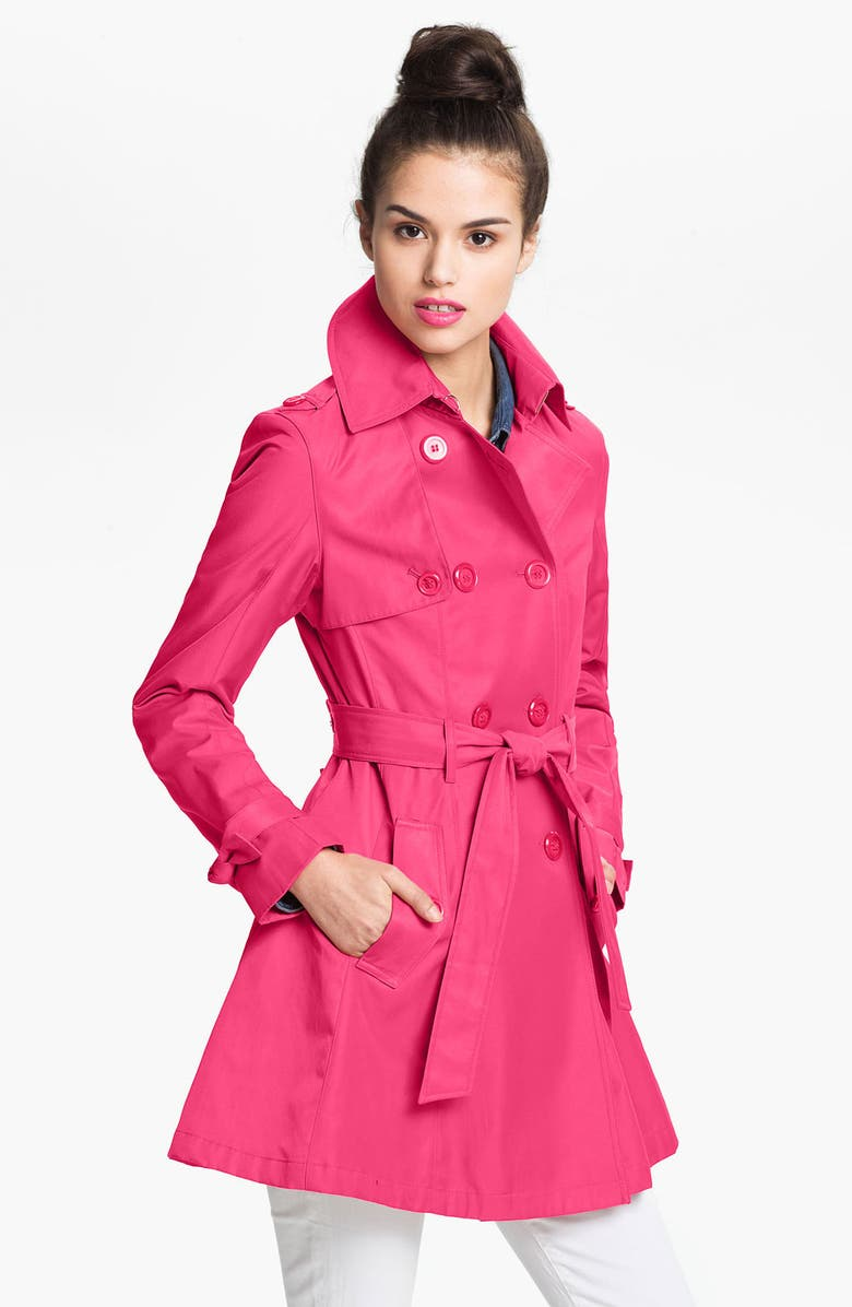 BETSEY JOHNSON Lace-Up Back Trench Coat, Main, color, 652