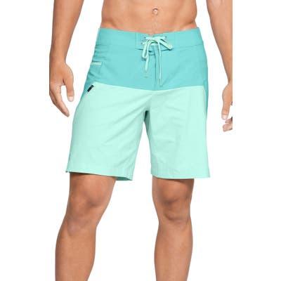 Under Armour Fish Hunter Board Shorts, Blue/green
