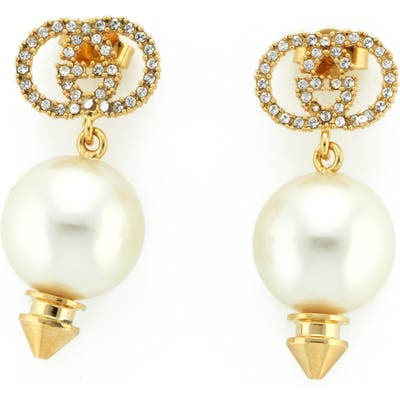 Gucci Imitation Pearl Drop Earrings