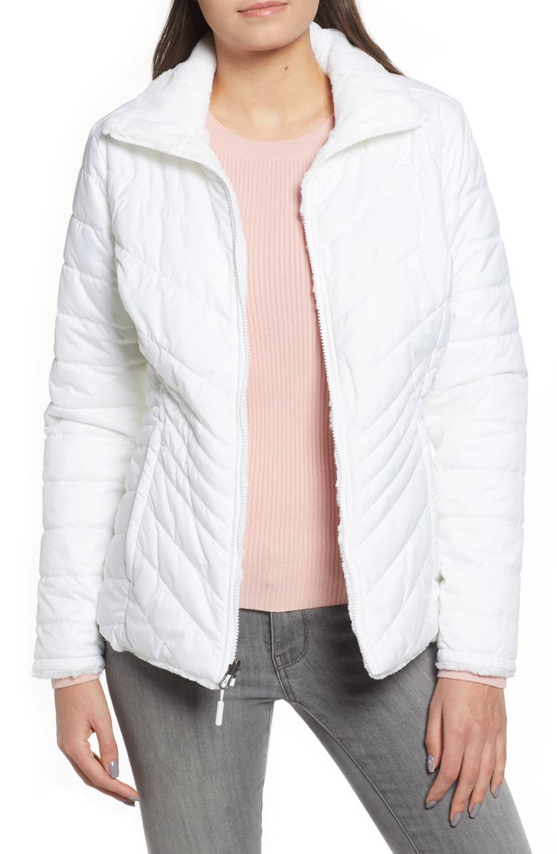 THE NORTH FACE Mossbud Reversible Heatseeker<sup>™</sup> Wind Resistant Jacket, Main, color, TNF WHITE