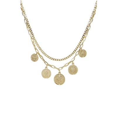 Ettika Coin Multistrand Necklace