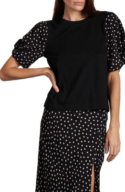 SANCTUARY GROOVE ON PUFF SLEEVE T-SHIRT