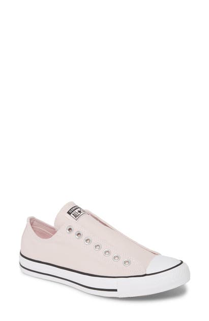 Converse Chuck Taylor All Star Seasonal Ox Low Top Sneaker In Barely Rose/ Black/ White