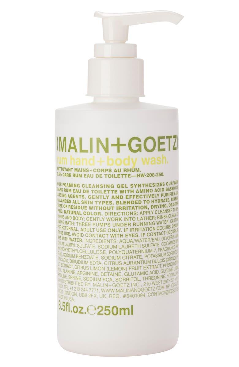 MALIN+GOETZ MALIN + GOETZ Rum Hand & Body Wash with Pump, Main, color, NO COLOR