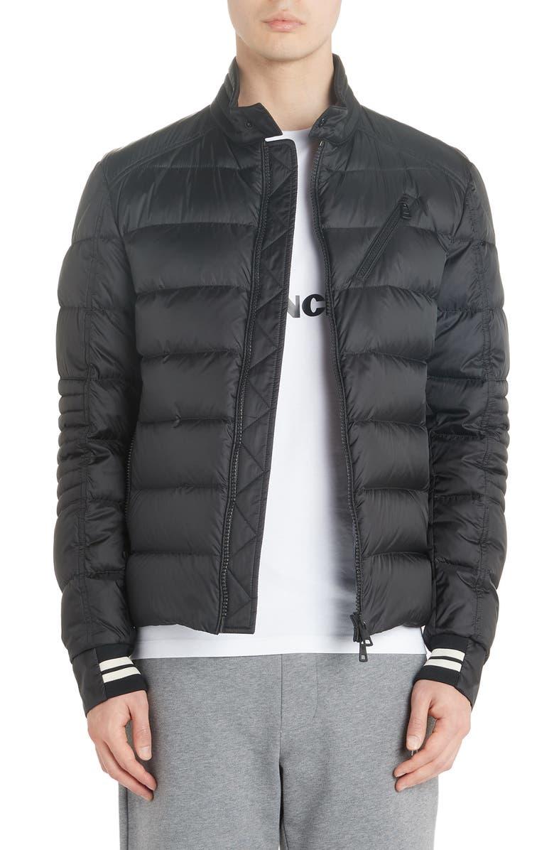 MONCLER Brel Down Puffer Jacket, Main, color, BLACK