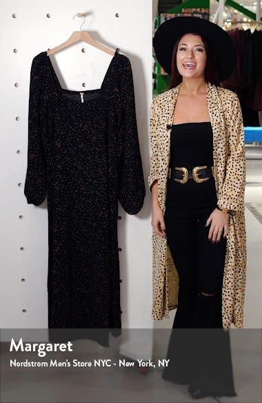 Iris Floral Long Sleeve Midi Dress, sales video thumbnail