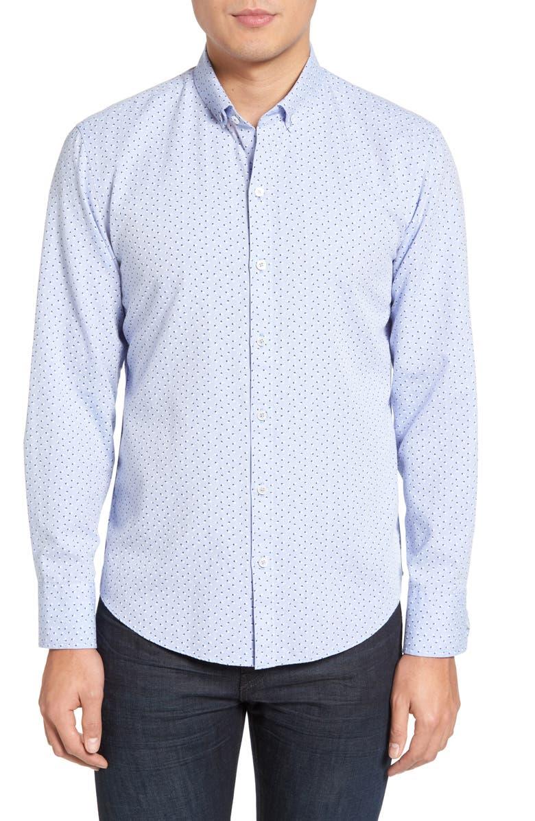ZACHARY PRELL Benedict Regular Fit Print Sport Shirt, Main, color, 452