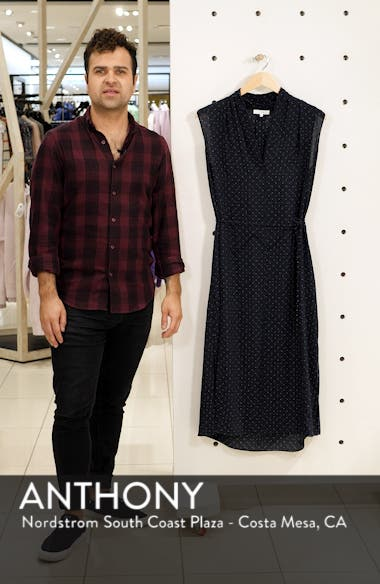 Shadow Dot Midi Silk Dress, sales video thumbnail