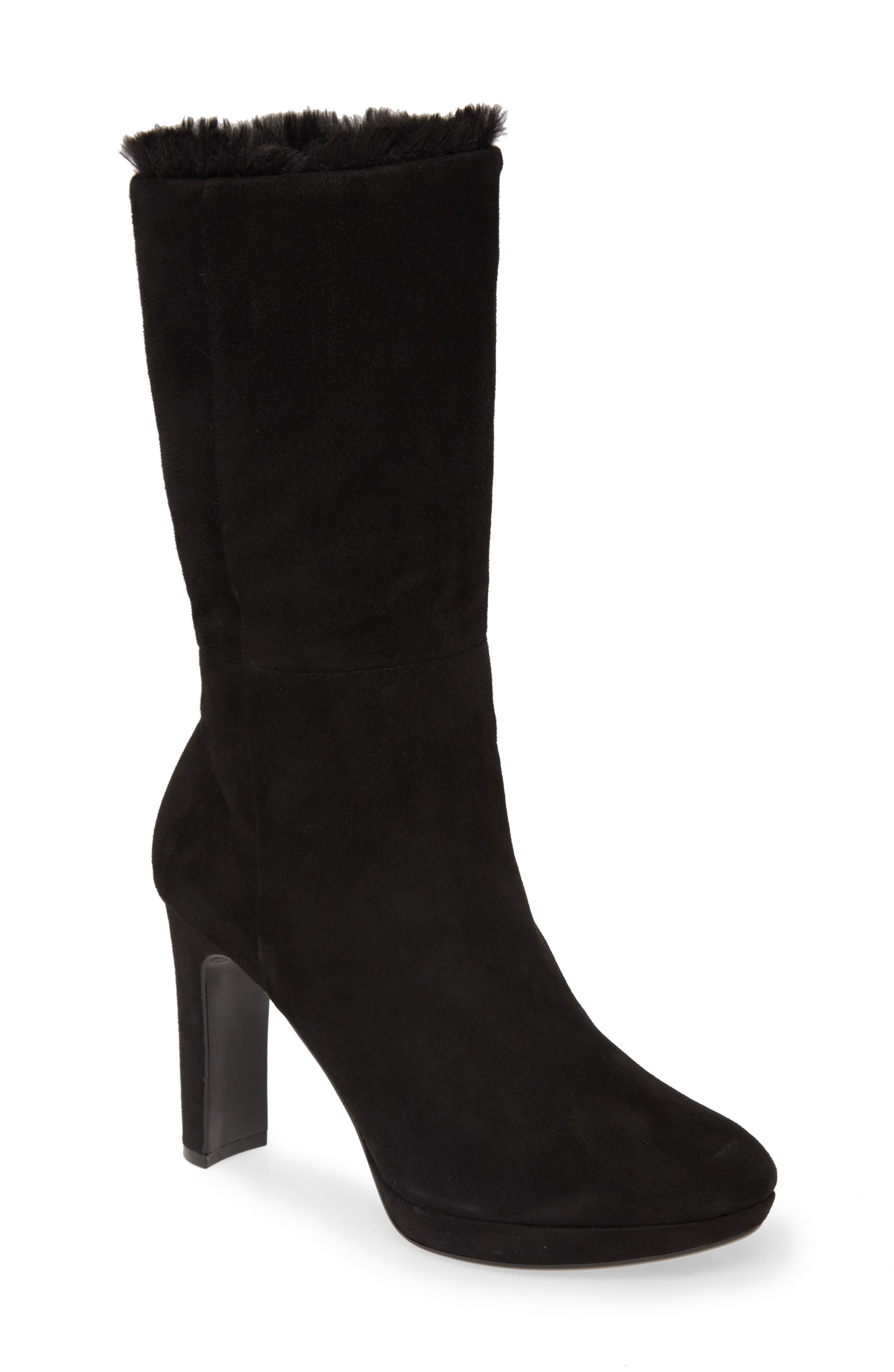 Calvin Klein Boots Pebbles Faux Shearling Lined Boot