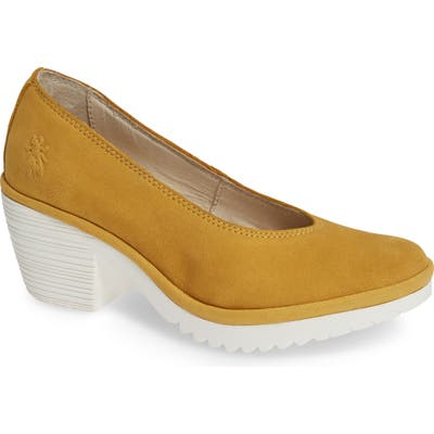 Fly London Walo Pump,8.5- Yellow