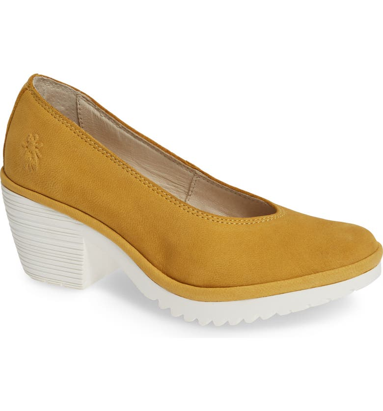 FLY LONDON Walo Pump, Main, color, BUMBLE BEE LEATHER