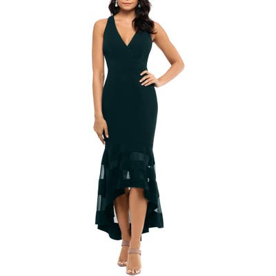 Xscape High/low Flounce Midi Dress