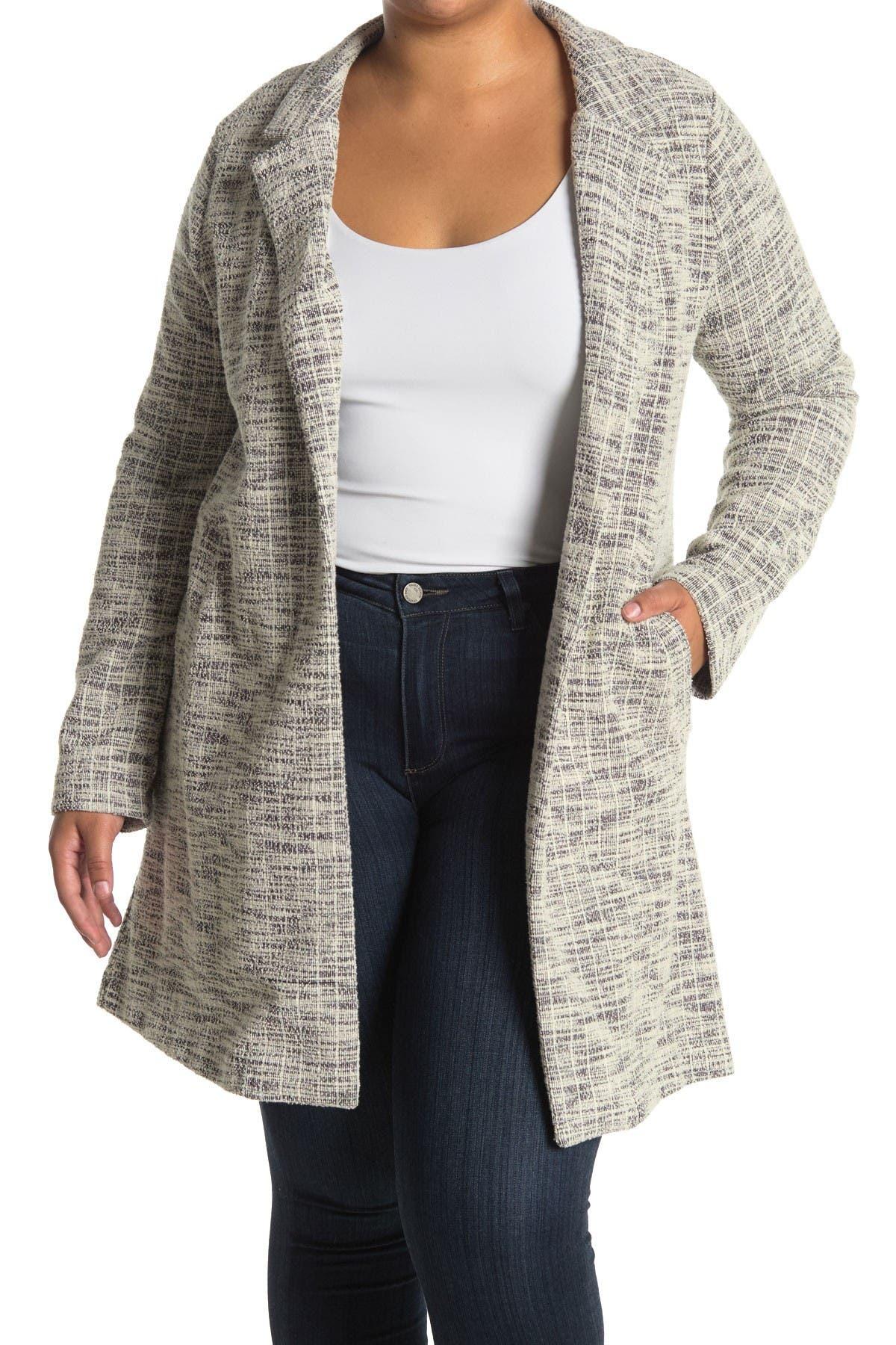 COAST Women/'s NEW Grey Open Front Drape Thin Throw On Jacket Long Coat 6 to 18