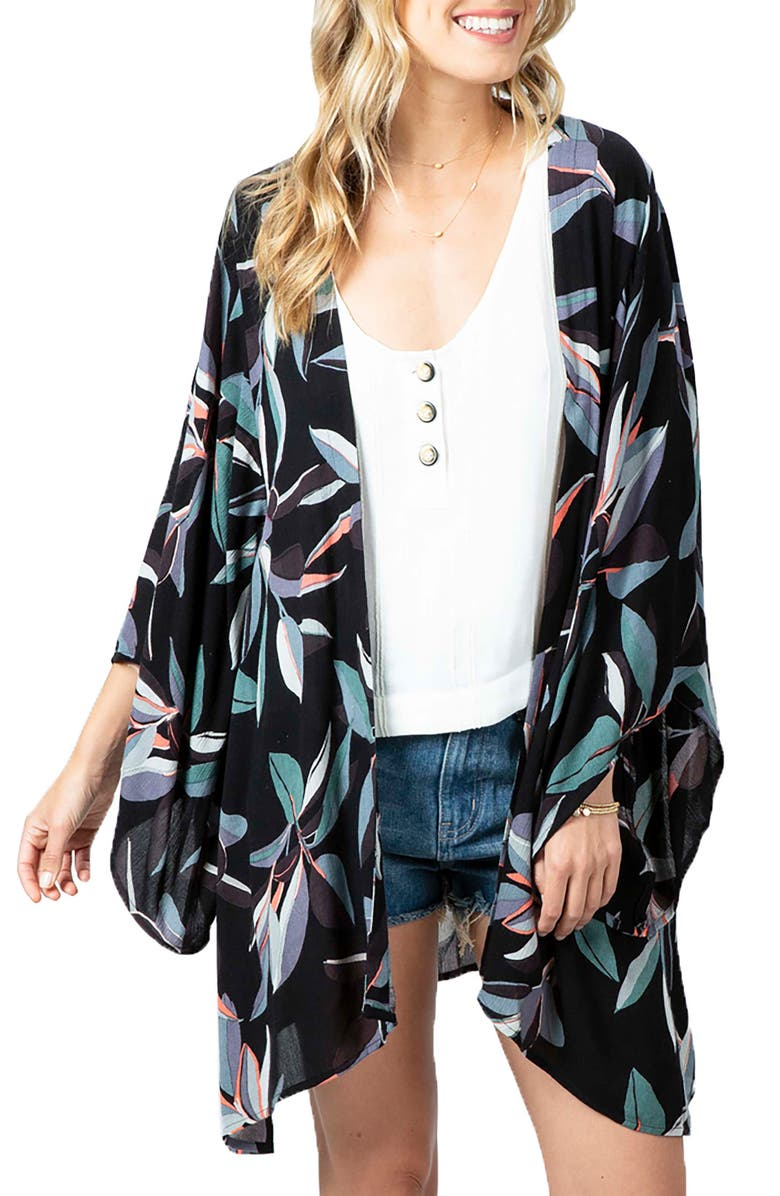 RIP CURL Palm Bay Duster, Main, color, BLACK