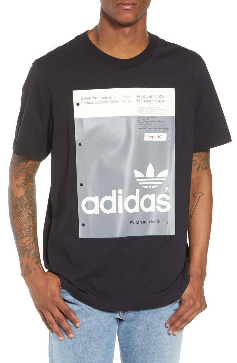 ADIDAS ORIGINALS Pantone Graphic T-Shirt, Main, color, 001