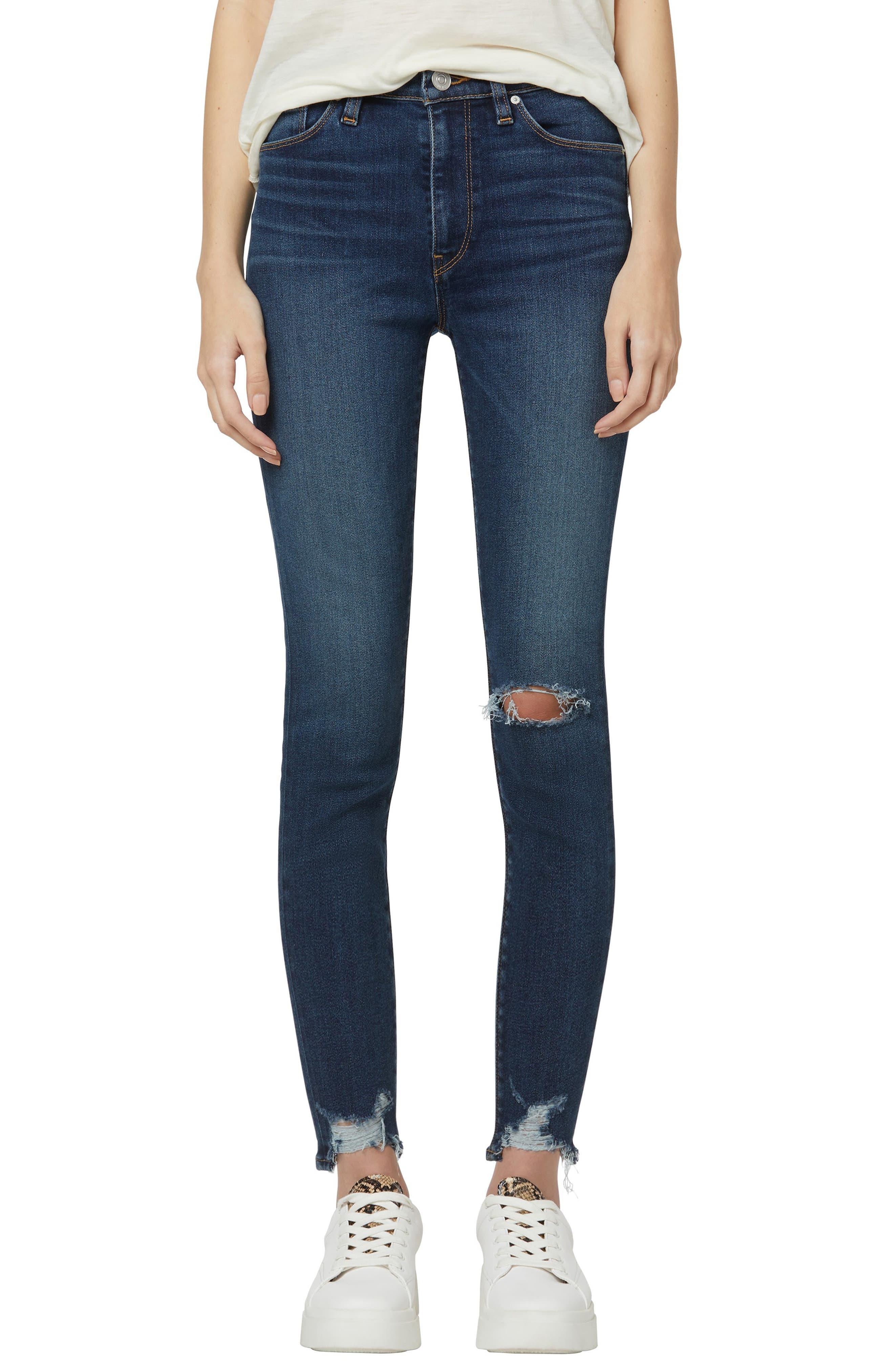 Barbara Ripped High Waist Super Skinny Jeans