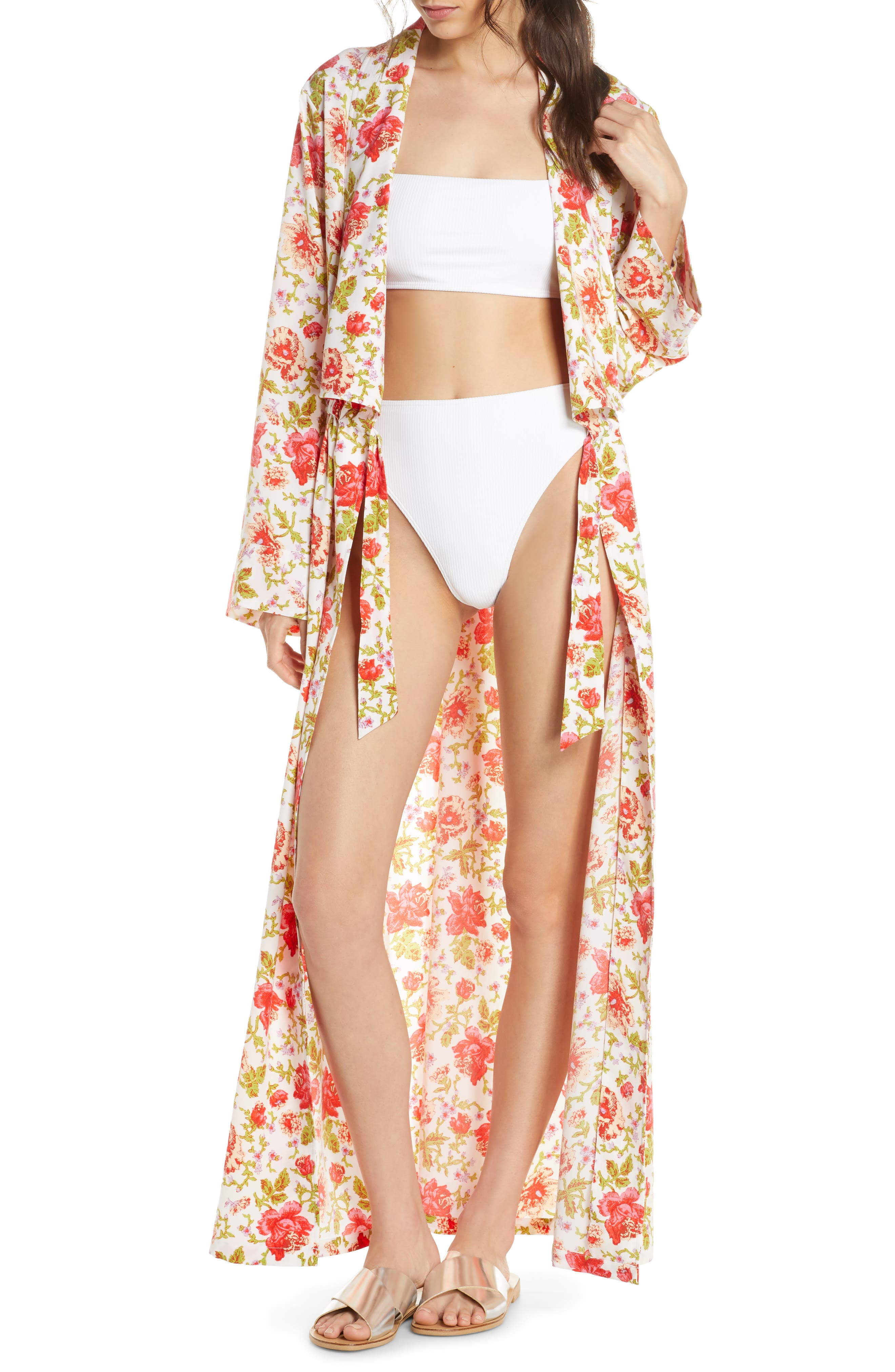 Something Navy Maxi Cover-Up Wrap, Red (Nordstrom Exclusive)