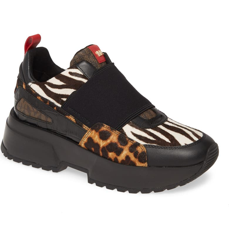 MICHAEL MICHAEL KORS Cosmo Slip-On Sneaker, Main, color, ANIMAL PRINT CALF HAIR