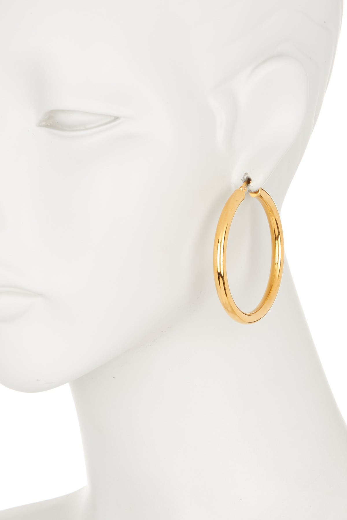 Image of HMY Jewelry Thick Hoop Earrings 40mm