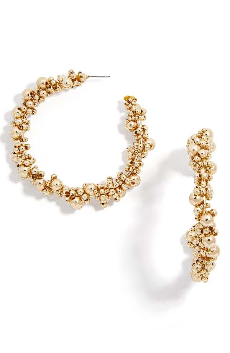 BAUBLEBAR Pitti Hoop Earrings, Main, color, GOLD