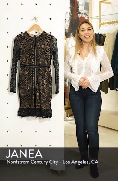 Sasha Long Sleeve Lace Cocktail Minidress, sales video thumbnail