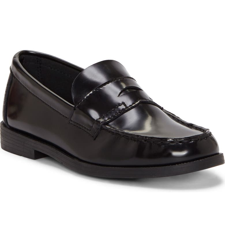 FIRST SEMESTER Teacha Penny Loafer, Main, color, BLACK