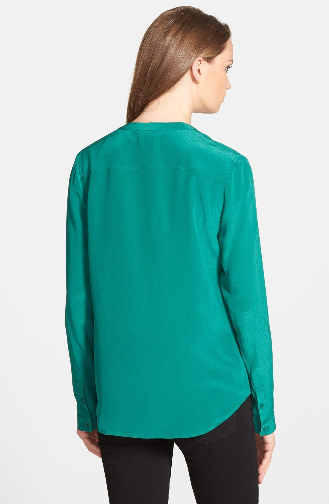 ,                             Collarless Silk Blouse,                             Alternate thumbnail 40, color,                             301