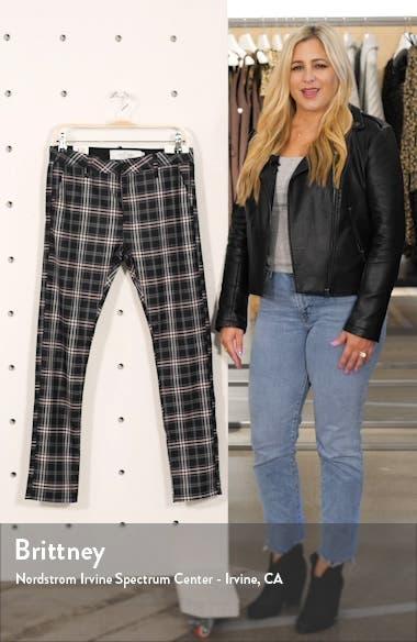 Skinny Fit Plaid Stretch Twill Pants, sales video thumbnail
