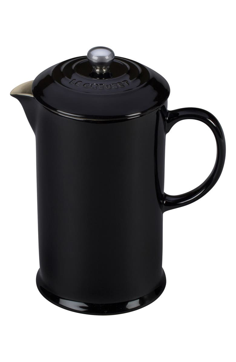 LE CREUSET Stoneware French Press, Main, color, BLACK