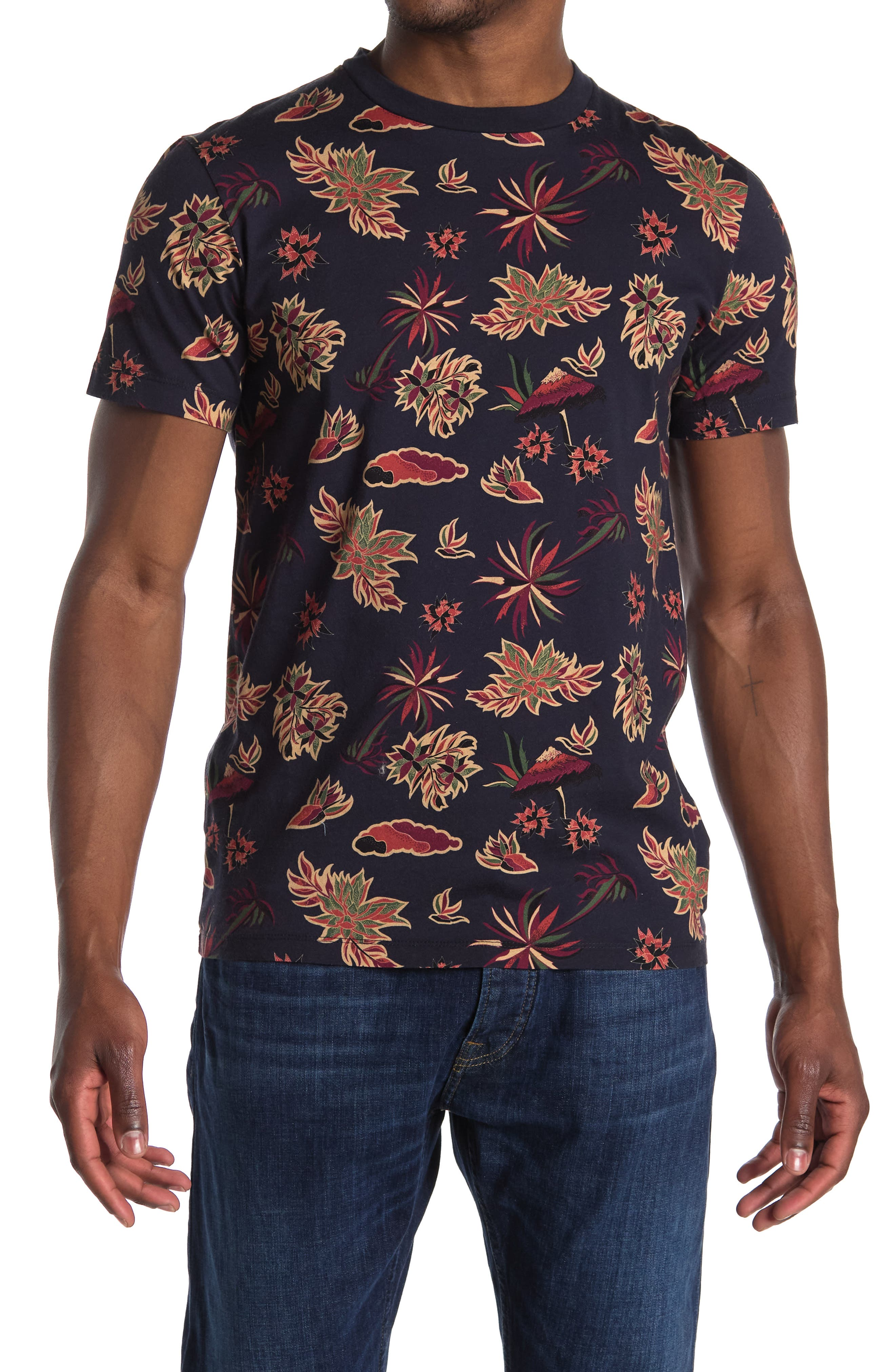 Image of Scotch & Soda Regular Fit Floral Print Tee
