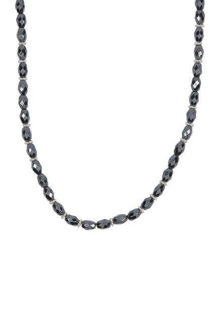 Image of Anna Beck Sterling Silver Hematite Beaded Choker