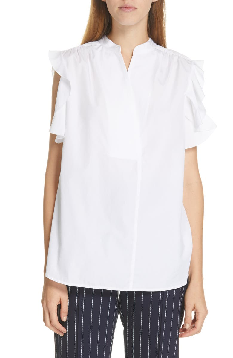 SEE BY CHLOÉ Ruffle Band Collar Blouse, Main, color, 250