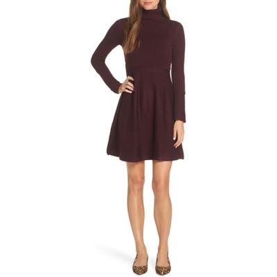 Eliza J Turtleneck Sweater Dress, Red