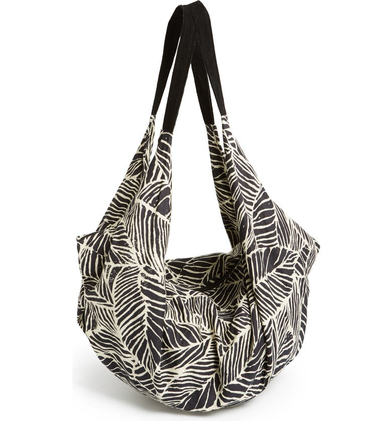 RVCA 'Mixed Signals' Print Slouchy Tote, Main, color, 003