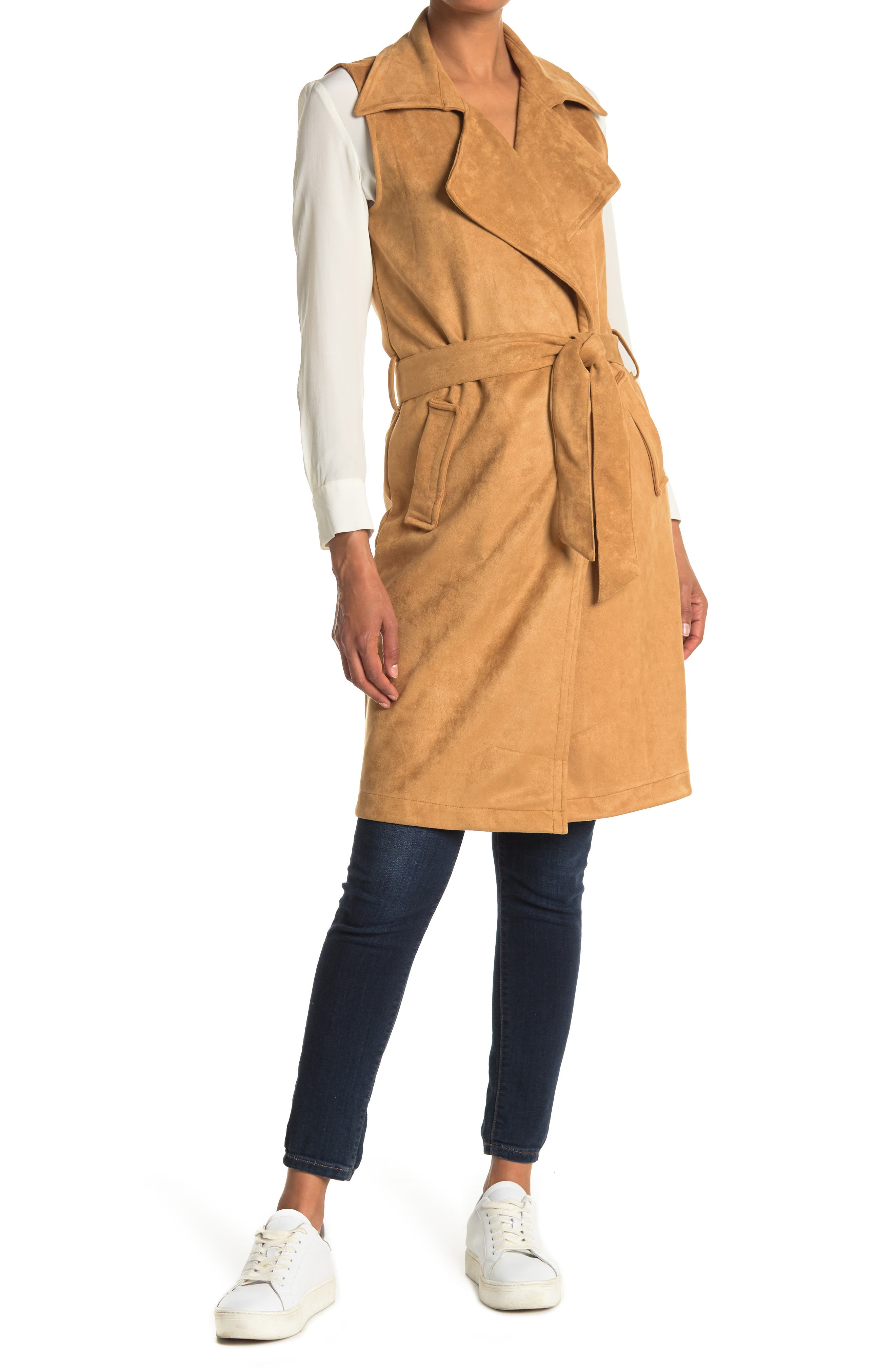 Image of OOKIE & LALA Faux Suede Trench Vest