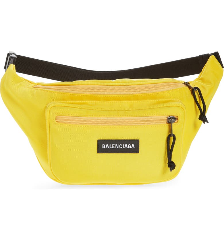 BALENCIAGA Explorer Belt Bag, Main, color, YELLOW