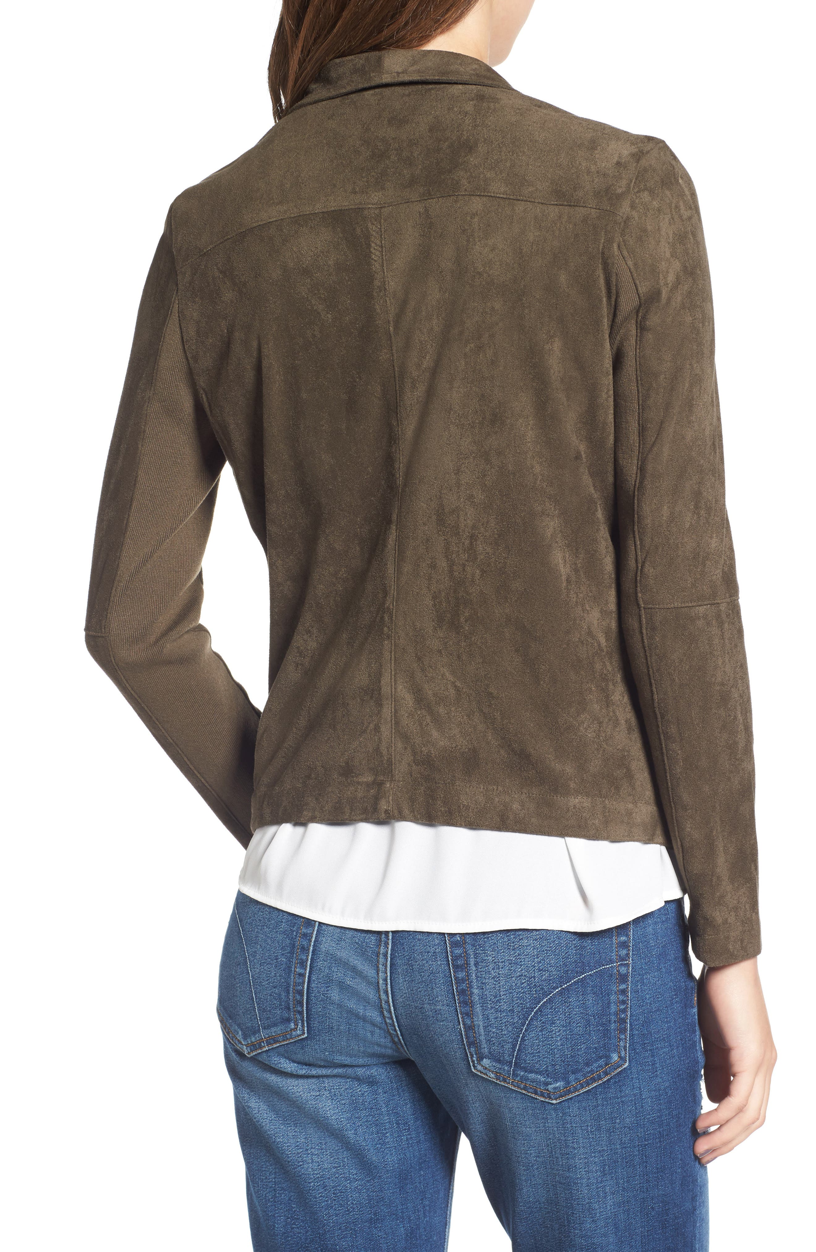 ,                             Nicholson Faux Suede Drape Front Jacket,                             Alternate thumbnail 83, color,                             341