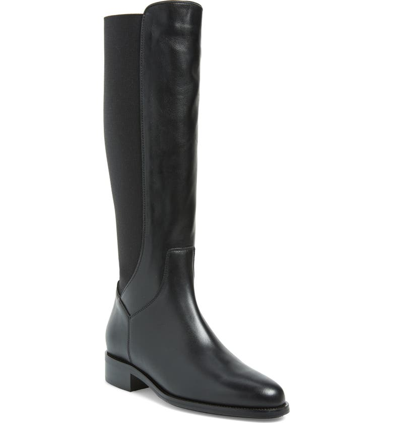 AQUATALIA Neda Tall Weatherproof Boot, Main, color, BLACK CALF/ELASTIC
