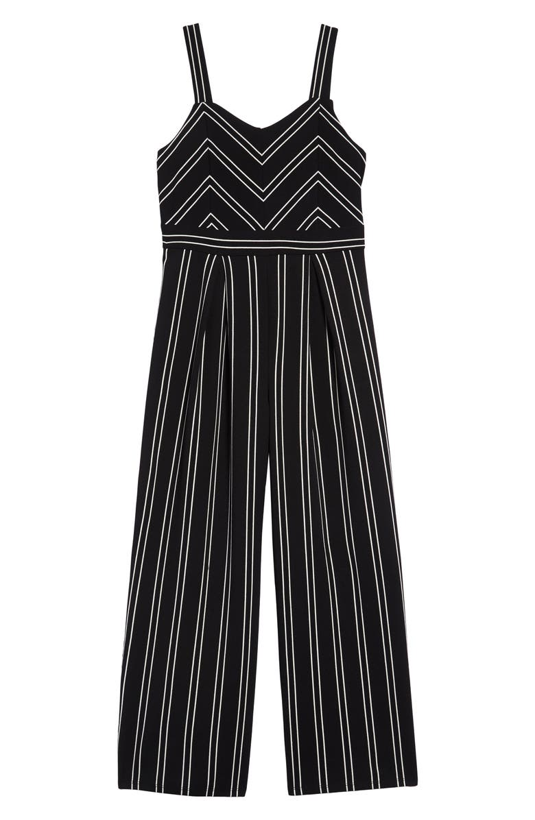 LOVE, NICKIE LEW Stripe Jumpsuit, Main, color, 001