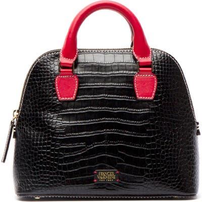 Frances Valentine Small Rachel Embossed Leather Dome Satchel - Black
