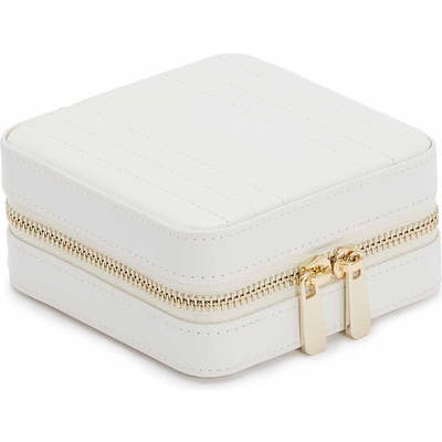 Wolf Maria Zip Square Jewelry Case - White