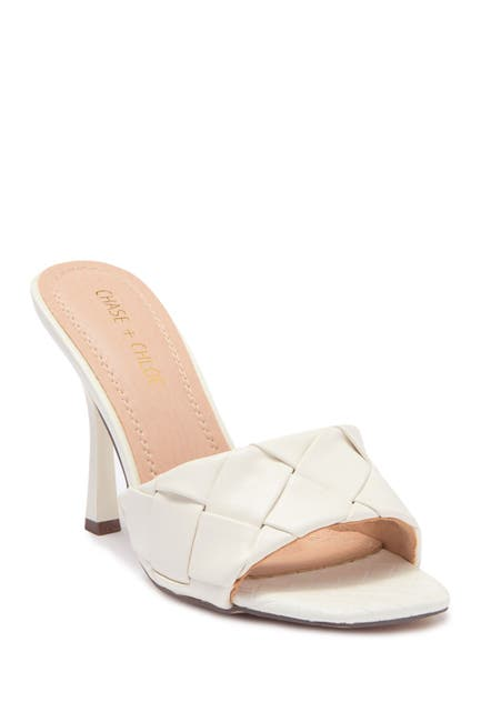 Image of Chase & Chloe Quilted Slip-On Slim Heel Sandal