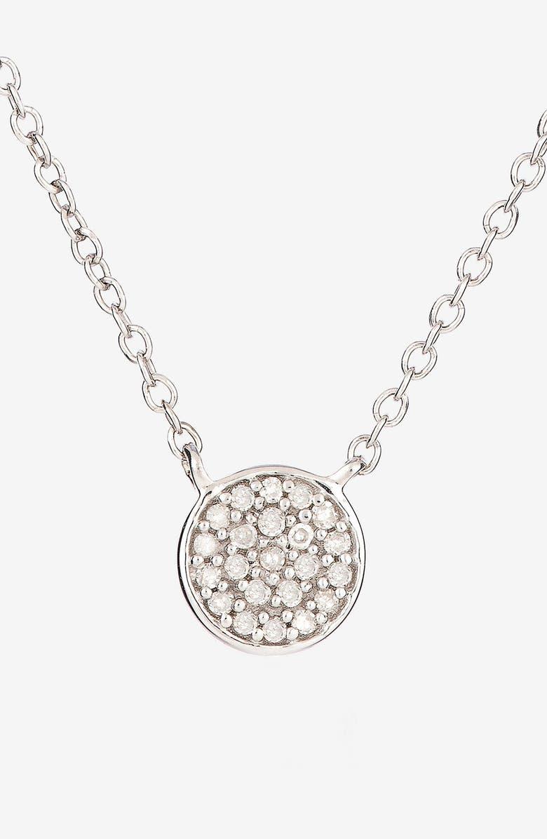 Adina Reyter Pavé Diamond Disc Pendant Necklace (Online