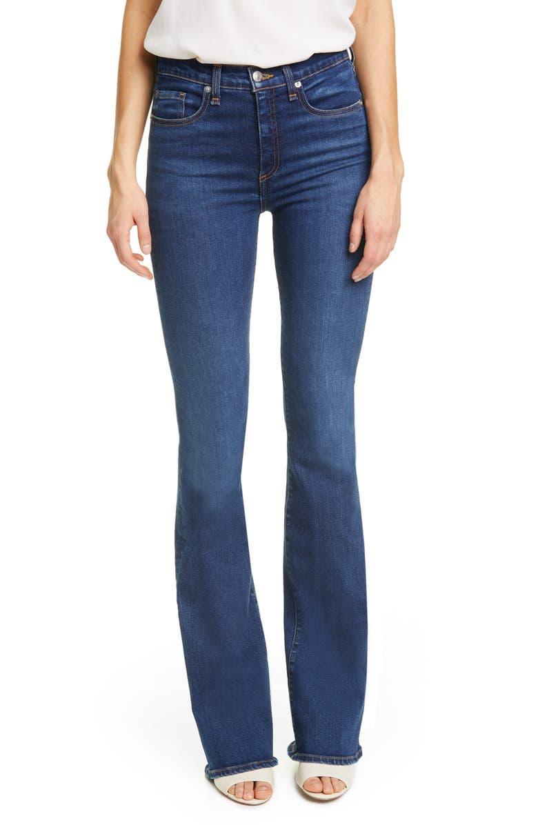 VERONICA BEARD Beverly High Waist Skinny Flare Jeans, Main, color, MINERAL BLUE