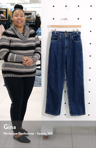 High Waist Relaxed Stovepipe Jeans, sales video thumbnail