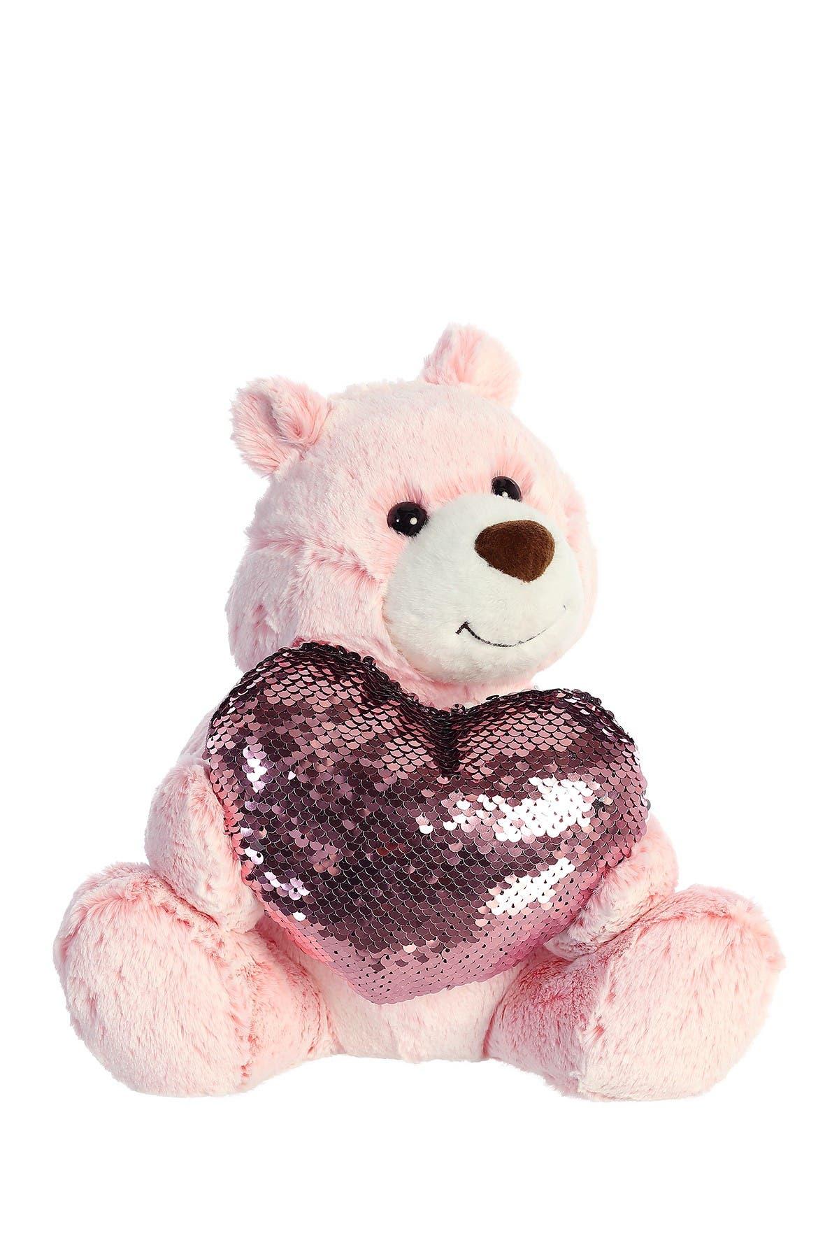 "Image of Aurora World Toys 11"" Sparkle Heart Bear Plush"