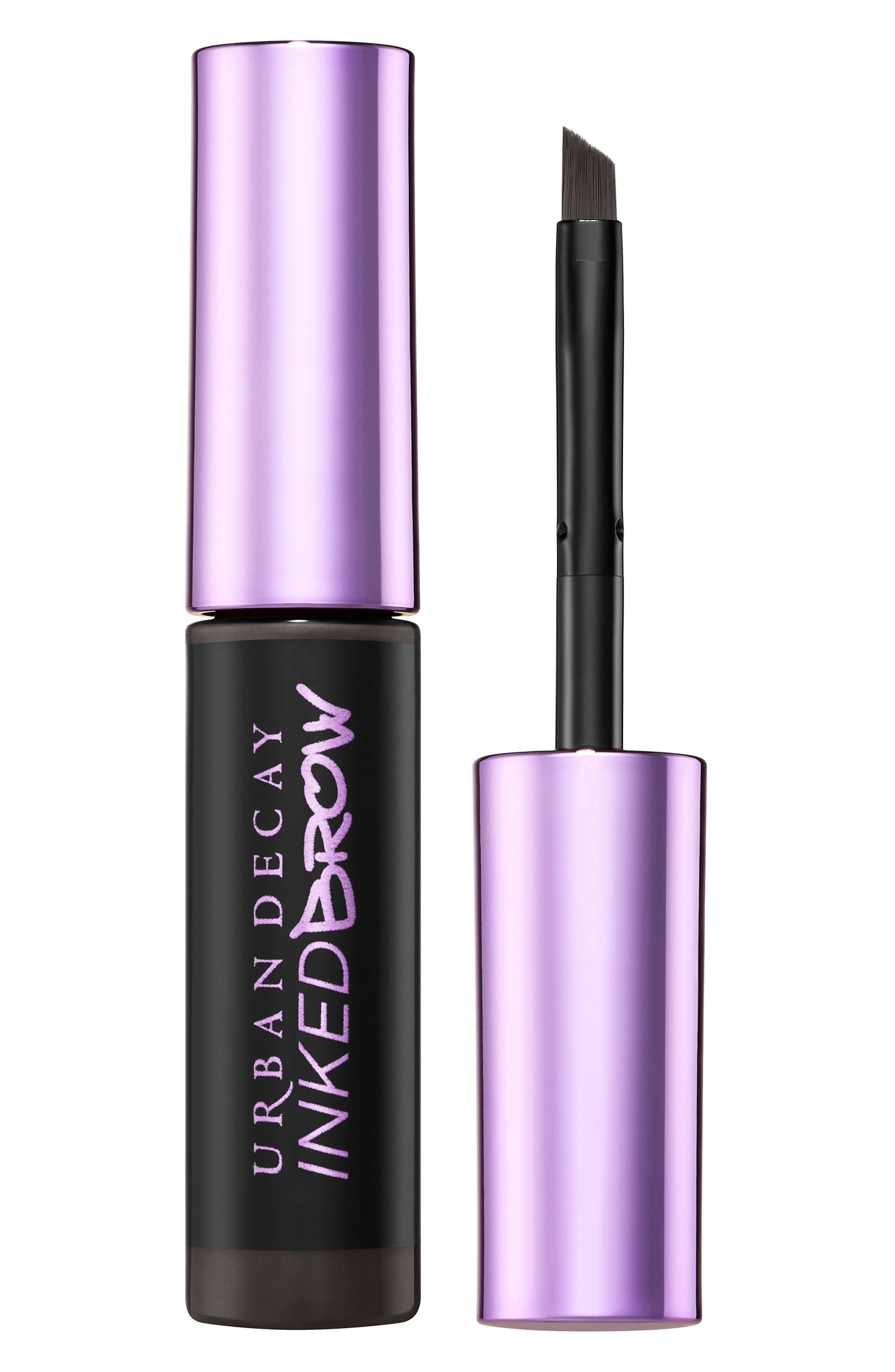 What it is: A semi-permanent, long-wearing brow gel. What it does: This gel helps create arches that last up to 60 hours. How to use: Make sure your skin is clean and dry before application. Using the built-in brush, fill in sparse areas and sculpt your existing brows. For lasting brows, avoid the eye area when cleansing your face. Style Name: Urban Decay Inked Brow Gel. Style Number: 6019556. Available in stores.