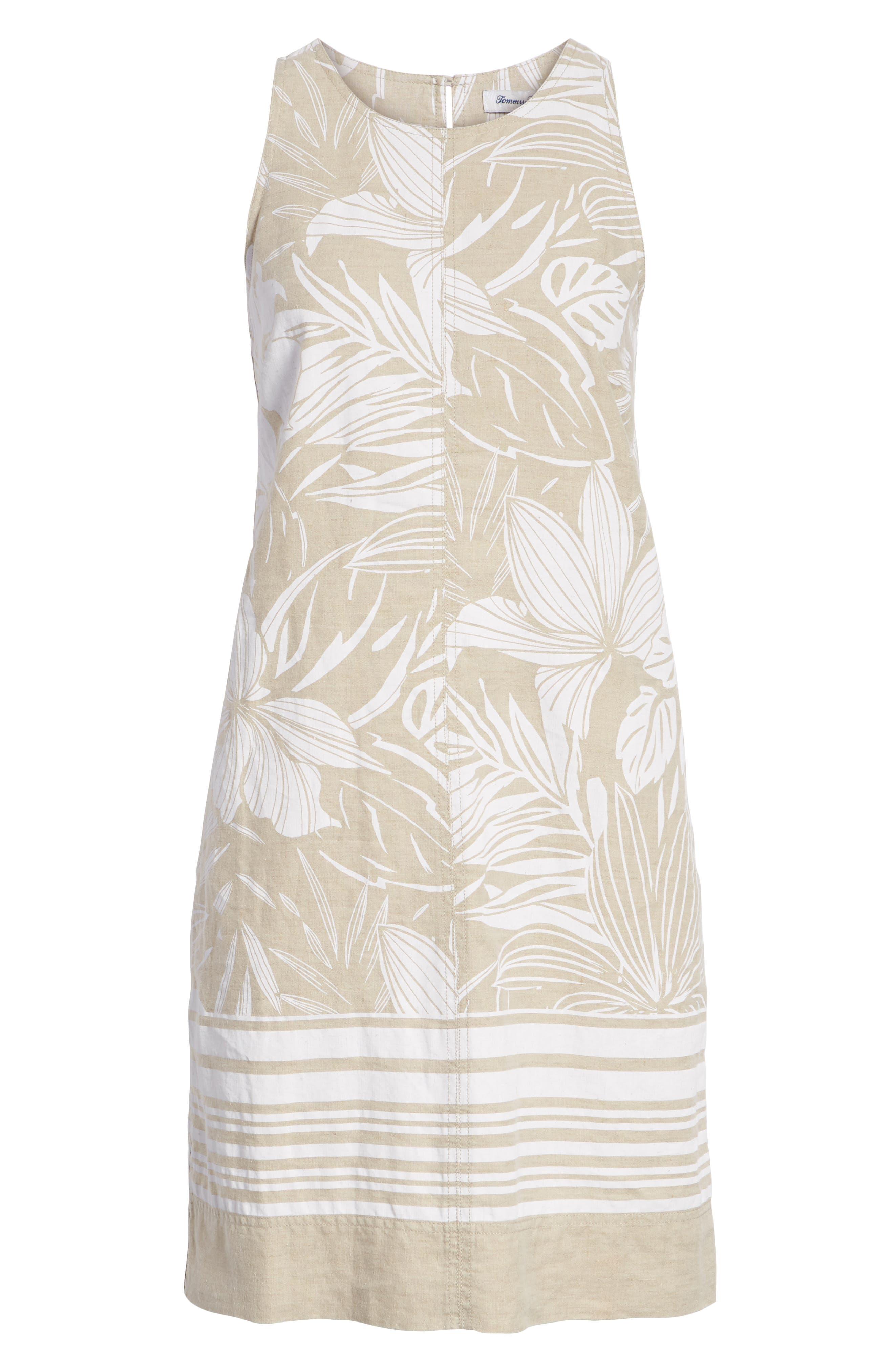 ,                             Mahana Linen Shift Dress,                             Alternate thumbnail 7, color,                             NATURAL LINEN